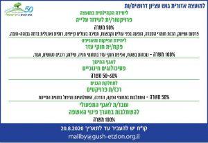 פרסום מודעת דרושים למועצת גוש עציון בעיתון מקור ראשון ובעיתון בשבע