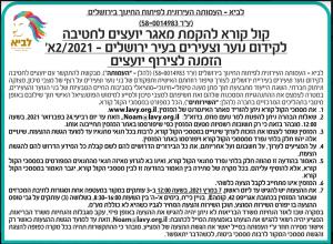 פרסום מודעת קול קורא להקמת מאגר יועצים לחטיבה לקידום נוער וצעירים בירושלים בעיתון ידיעות ירושלים, בעיתון כל העיר ובעיתון זמן ירושלים