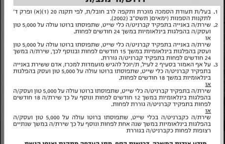 מודעת דרושים לנתב/ת בנמל אשדוד